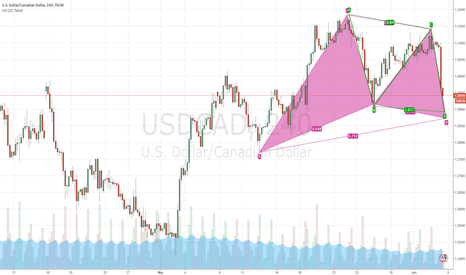 USDCAD: bullish gartley with abcd