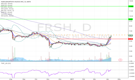 FRSH: FRSH - Flag formation Long from $6.23 up-to $11.93