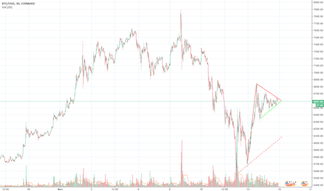 BTCUSD: Looks Like One of Those Flag Thingys
