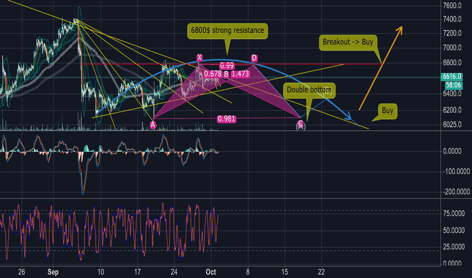 BTCUSD: Bitcoin Bear (short term) & Bull (long term) 10/2018