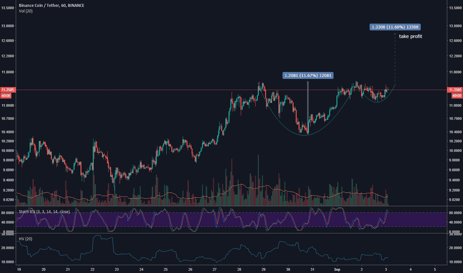 BNBUSDT: $BNB Cup and handle forming