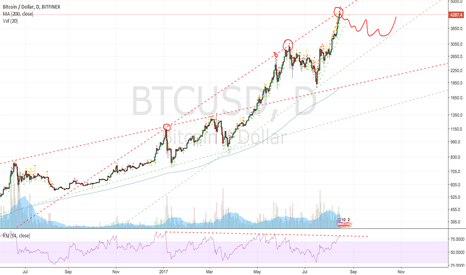 BTCUSD: Correction seems imminent