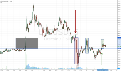 LTCUSD: Gap consolidation. Trading in the gap.