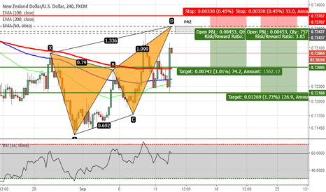 NZDUSD: NZDUSD - Potential Butterfly Pattern on H4 Chart