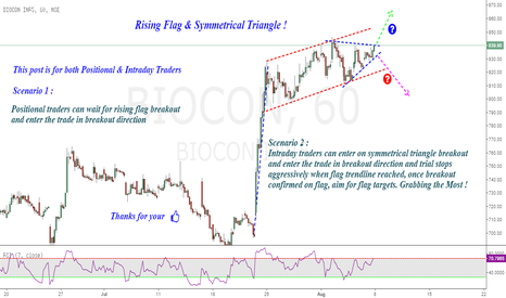 BIOCON: Biocon : Rising Flag & Symmetrical triangle