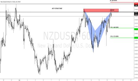 NZDUSD: NZDUSD BAT PATTERN X SUPPLY