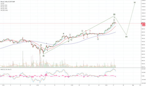 BTCUSD: Bitcoin Close to a Short-Term Top