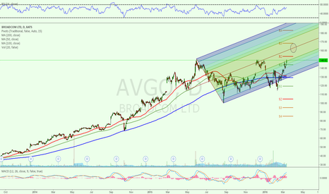 AVGO: MACD Is not slowing down but price at crucial level