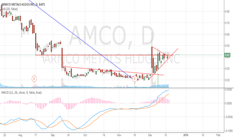 AMCO: Short term Bull Flag $AMCO