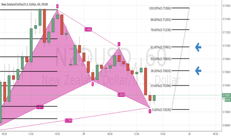 NZDUSD: Perfectly Gartley TF H1 NZDUSD