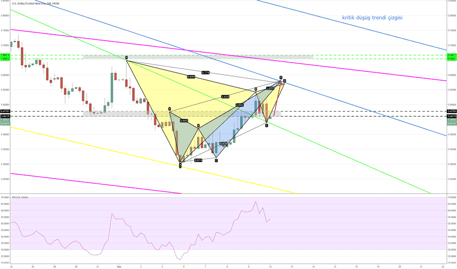 USDTRY: Kelebek + Gartley