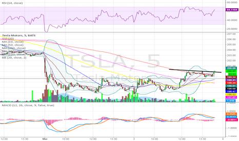 TSLA: Updated 5 min chart
