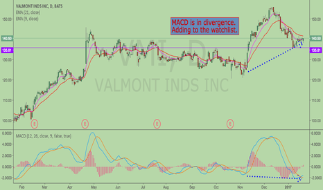 VMI: MACD Divergence