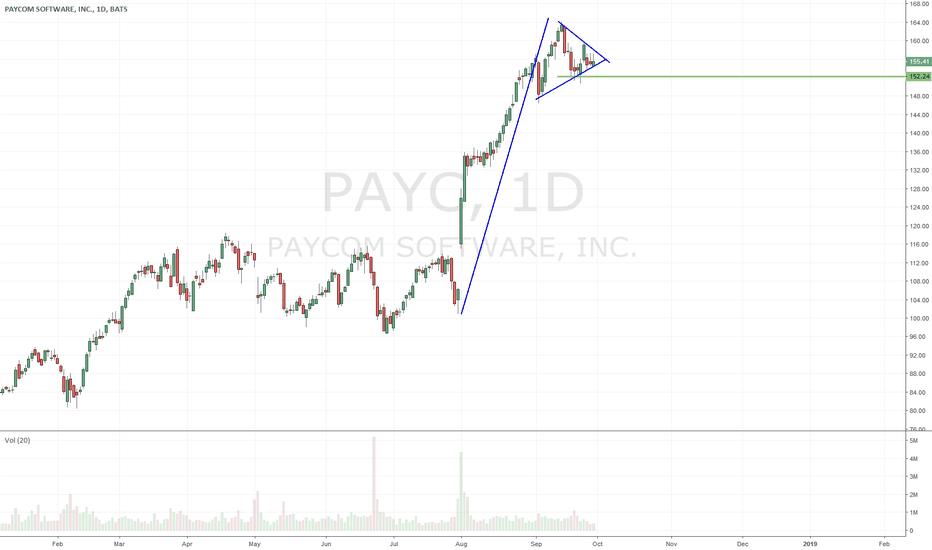 PAYC: $PAYC nice little bull flag