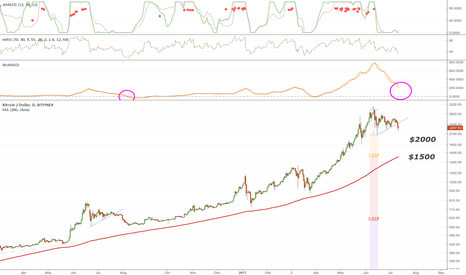 BTCUSD: Decline to $2000 or $1500 Support