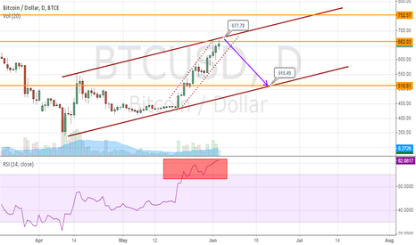 BTCUSD: Bitcoin is preparing for correction
