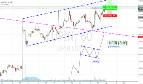 LUPIN: Lupin - Trading Bull Flag Pattern (Buy)