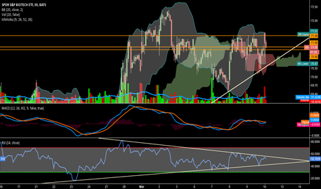 XBI: RSI coiling w increased selling on each rise in this zone