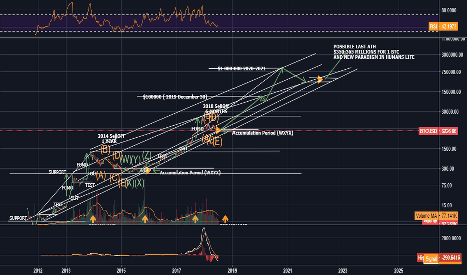 BTCUSD: BTC/USD HISTORY AND FUTURE FROM 2011 to 2030. BULLISH. LONG