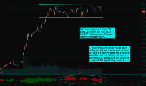 BAC: Bank Amer Corp (BAC) just can NOT make up it's mind!