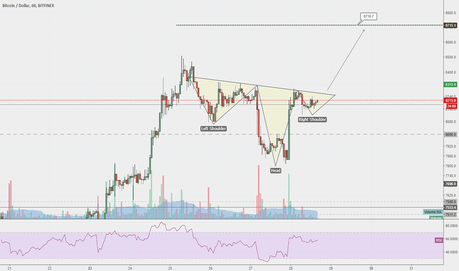 BTCUSD: Bitcoin to push towards $8,700 next