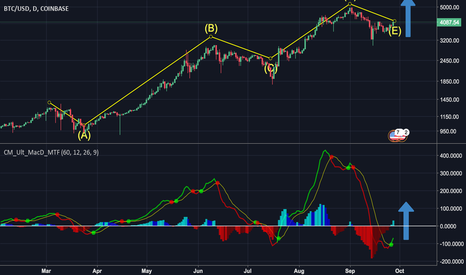 BTCUSD: BTC's Moving Average Convergence and Divergence.