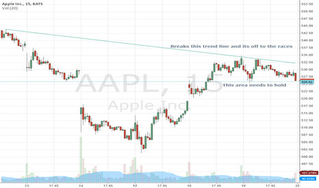AAPL: Area's of interest today