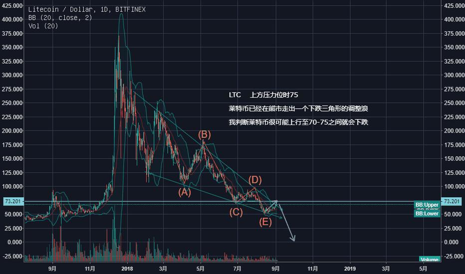 LTCUSD: 莱特币很可能会大幅度下跌