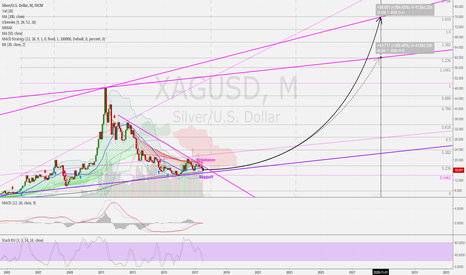 XAGUSD: Silver (US$/OZ) 1M: Long-term 10 Years target = 60/75 USD