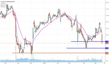 JBSS3: JBSS3 forte queda, podendo buscar região dos R$ 9,00