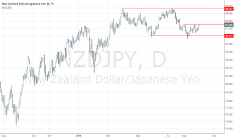NZDJPY: POSSIBLE CONTINUATION PATTERN IN NZDJPY