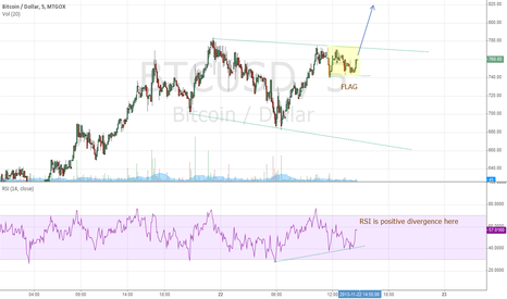 BTCUSD: Flag on Bitcoin