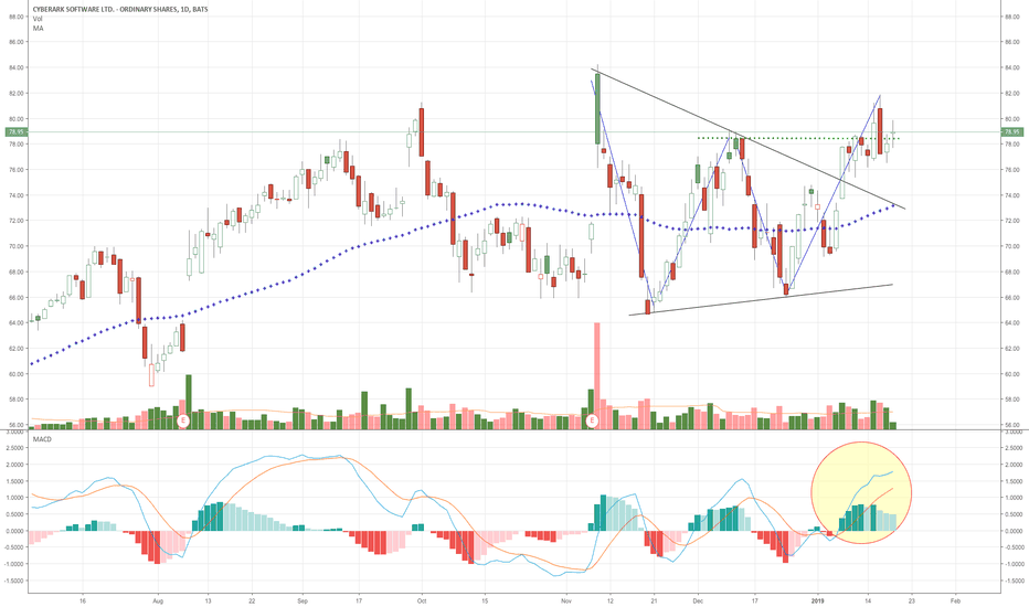 CYBR: CYBR - another beauty, but may need a breather, up 12% in 2 week