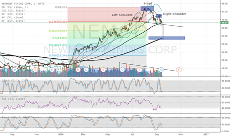 NEM: Possible Head & Shoulders Forming