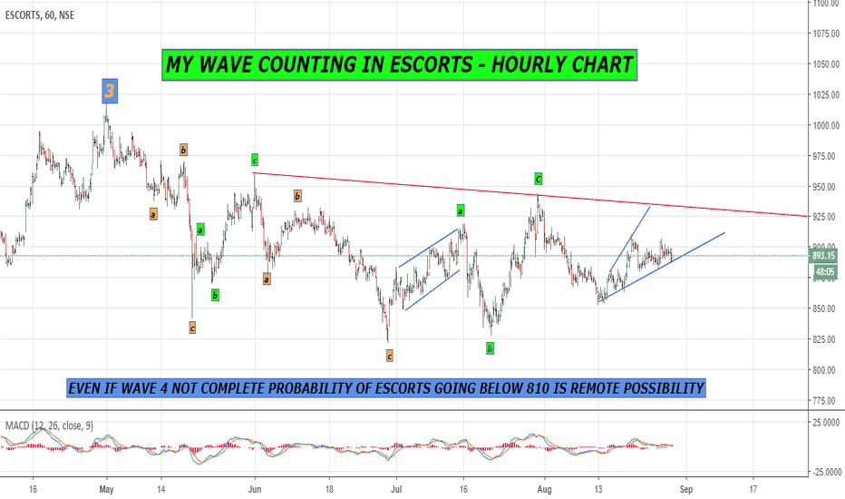 ESCORTS: IS IT A DIAGONAL PATTERN IN HOURLY CHART ??