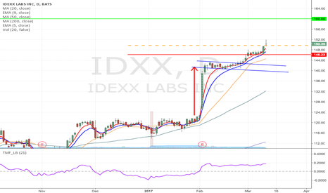 IDXX: IDXX - Flag formation Long from $149.73 to $160 area
