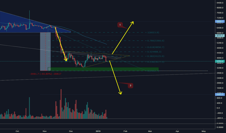BTCUSD: BTC/USD what outcome will be 1 or 2?
