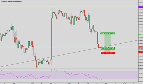 USDCAD: USD/CAD long trend line support