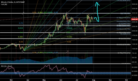 BTCUSD: A flag pattern in formation