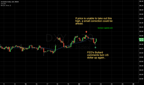 DXY: US DOLLAR -- small correction ahead ?!
