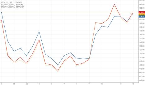 BTCUSD: BTC  프리미엄 비교