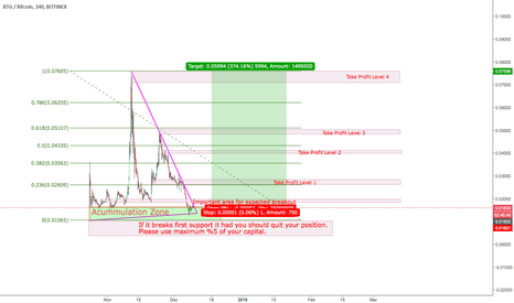 BTGBTC: BitcoinGold Done with its downtrend ?