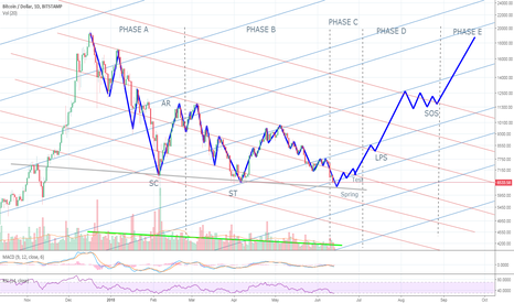 BTCUSD: Wyckoff accumulation and Phases Update