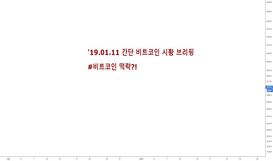 BTCUSD: '19.01.11 간단 비트코인 시황 브리핑 #비트코인 떡락?!
