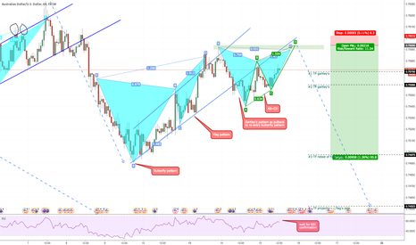 AUDUSD: AUDUSD: Gartley's Pattern Setup for Butterfly's Late Entry