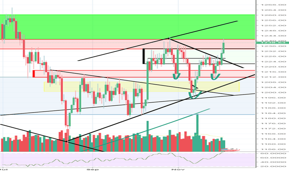XAUUSD: 1240 test was coming, Now back off then?