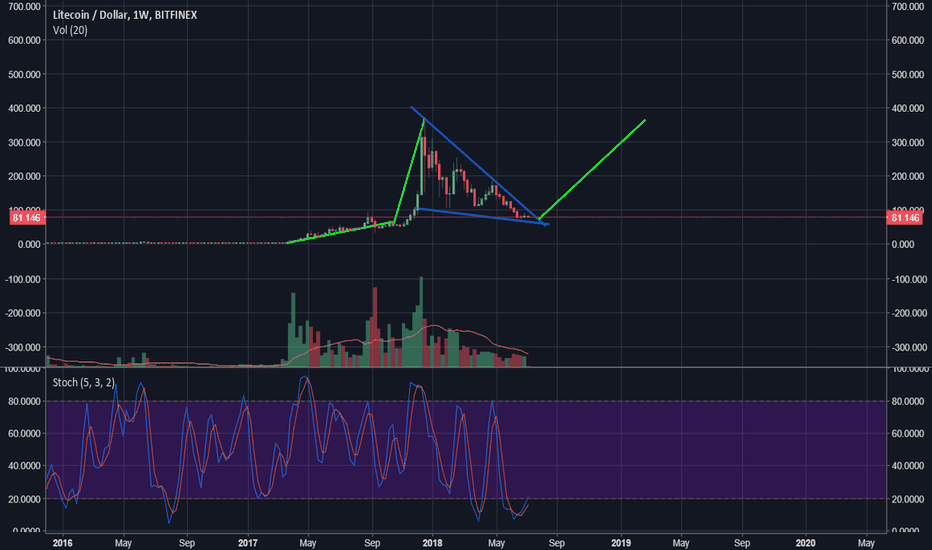 LTCUSD: Possible LTC Weekly Bull Flag
