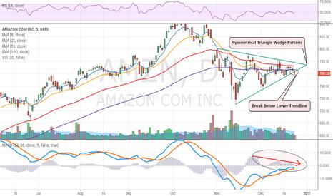 AMZN: Amazon Breaks Lower Out of Wedge Pattern