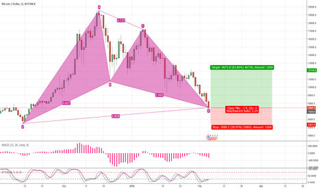 BTCUSD: Going Long, Gartley Pattern
