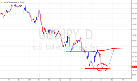 USDJPY: possible double bottom